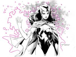 Scarlet Witch Commission by aethibert