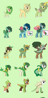 Mlp Pokemon grass starters adopts by TheWingedSkeleton