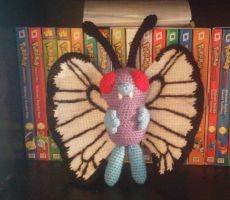 Butterfree Amigurumi Commission by Wykked-As-Syn