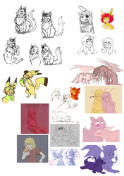 Sketchdump 2018 by toasterwitch