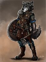 Wolf Viking Raider by TheLivingShadow