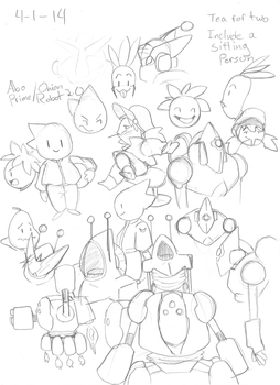 Onion Robots! Sketch by eppoif1