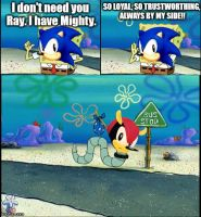 Why Mighty isn't in Sonic games by Roro102900