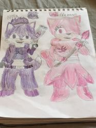 Sonic OC Redesigns 4/5: Nora and Hannah  by SlyZeke101