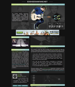 Ed Sheeran Layout by Nikrecia