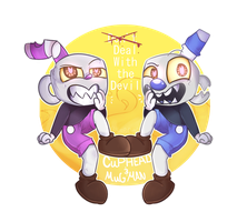 Cuphead and Mugman (where did their souls go?) by MeepCreep