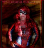 #BodyPainted SpiderGirl SamanthaWpg.com by VisualEyeCandy