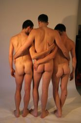 Three Naked Guys 3 by TheMaleNudeStock