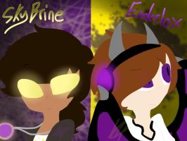 Skybrine and Enderlox Redraw by Kathy6424
