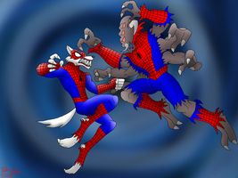 Werewolf Spider-Man vs. Man-Spider by DragonSnake9989