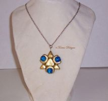 Twilight Prince Zora Sapphire Necklace Handmade by TorresDesigns