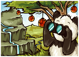Panda Sightseeing by SheSaidNevermore