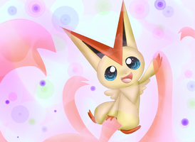Pokemon Challenge: 05 Victini by MissKittens