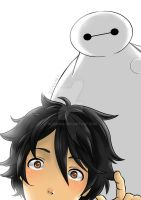 Baymax and Hiro by DeAgaba