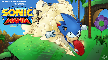 BSC-Sonic Mania Title card by chickenMASK