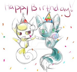 Shiny Meowstics Bday Sketch Request by Dream-Paint