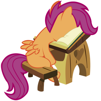 Scootaloo's facebook by LazyPixel