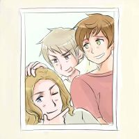Bad friends trio in a photo booth by maybebaby83