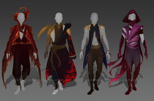 (CLOSED) - Male Outfit Adoptable Set #003 by Timothy-Henri