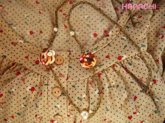 cream filled donuts necklace by Hanachi-bj