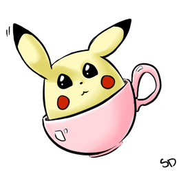 Pika in a Cup by silverdemon456