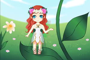 .: Chibi Forest Fairy :. by thebigblackdevil5
