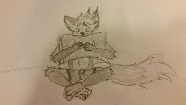 Sitting With Pillow by Adadave