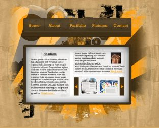 Grunge Web Layout - Revision 2 by Mentalhead