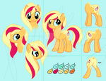 Ember Eclipse - Personal Ponysona Reference Sheet by flufflesauce