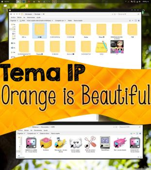 Orange is beautiful Tema Iconpackager DE by Dianeyeditions