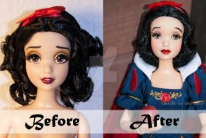 Disney Snow White Doll Repaint | Before - After by claude-on-the-road