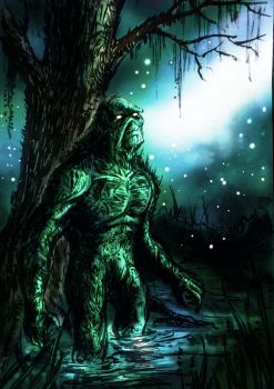 Swampthing Rendered by richard-chin
