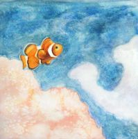 The Lonely Clownfish by kAt-LIkeS-pIE