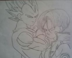 Trunks and Vegeta by Tapions-Flute