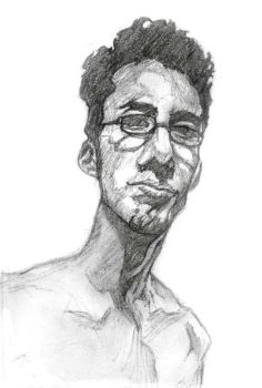 Warm up self portait sketch by TheFool432