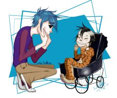 2D and Noodle by Yeiko-Tsukine