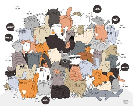 Lots of Cats !! by PattesDeVeloursAndCo