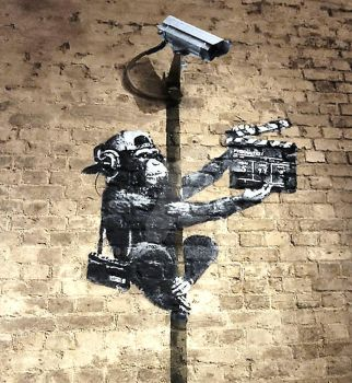 BANKSY (Lights,camera,ACTION) MONKEY FILM MAKER by D-Impacto