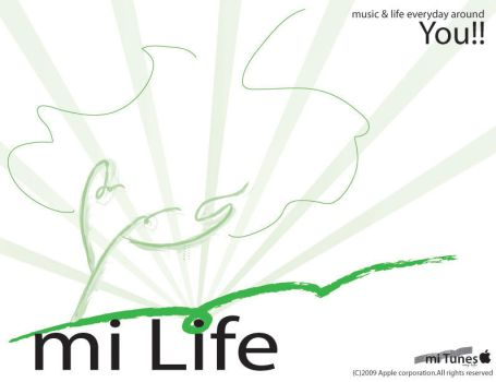 FP:mitunes_myLife Poster by blkdrgn