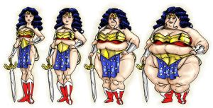 Wonder Woman weight gain by Knightmare10880