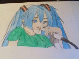 Singing Miku by GSlover1234