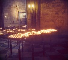 Notre Dame candles by sataikasia