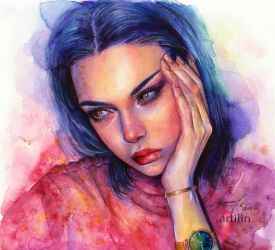 kendall jenner by Artilin