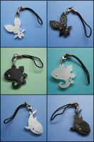Phone and Zipper Charms by melkatsa