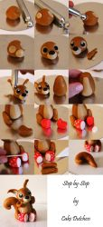 Squirrel with rainboots by Naera
