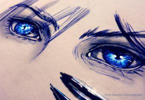 Cloud Strife Eyes by Catstudio7