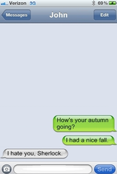 Nice Fall (A Text From Sherlock) by Flying-With-The-Owls