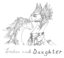 Father And Daughter-Fr Collab Commission by Fuzzyfire17
