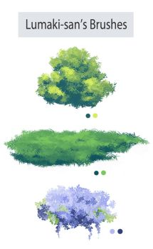 Photoshop Foliage/Grass Brush Pack by Lumaki-o