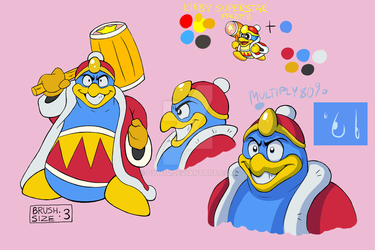 King Dedede Color Palette by DYW14